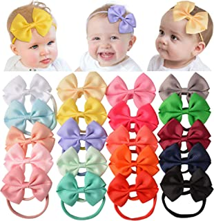 Baby Nylon Headbands Hairbands Hair Bow Elastics for Baby Girls Newborn Infant Toddlers Kids (JCX-20)