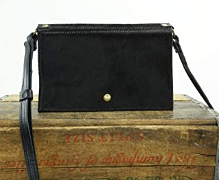 Festival Belt Bag Converts to Cross Body Purse in Black Leather