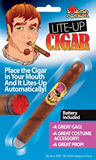 Loftus International Loftus Realistic Rich Guy Light-Up Cigar Costume Accessory, Brown, One Size Novelty Item