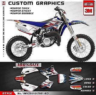 Kungfu Graphics Custom Decal Kit for Yamaha YZ85 YZ 85 2015 2016 2017, Blue White, YMYZ851517001-KO