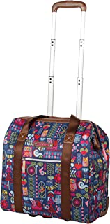 Design Pattern Carry on Bag Wheeled Cabin Tote (Geo Critter)