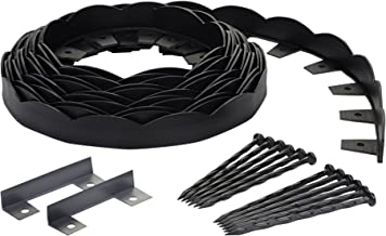 EasyFlex Dimex Scallop Top Plastic No-Dig Edging Project Kit, 40-Feet (3210-40C-4)