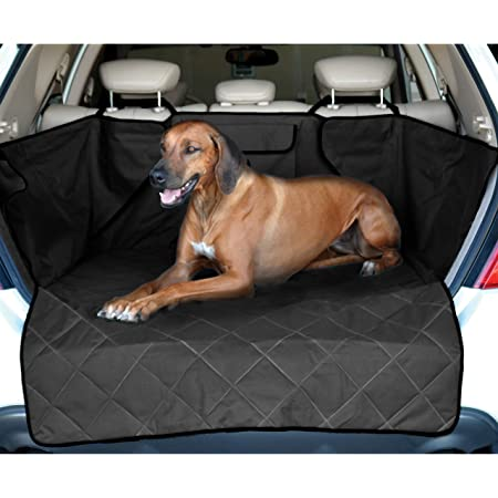 Mr E Saver/© Premium Quilted Heavy Duty Quality Boot Liner Protector Headrest Mesh Pet Dog Cat Guard Barrier Divider MREQLBL+HMSH439