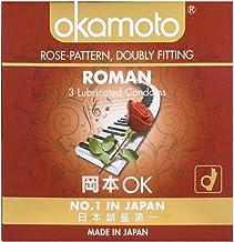 Okamoto Roman Rose Pattern Condoms, 3 ct