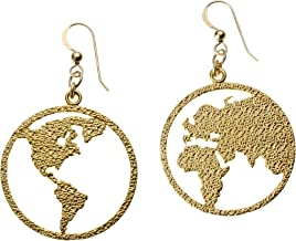 product image for Peace on Earth Gold-dipped Earrings on French Hooks