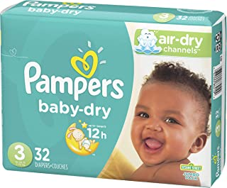 Pampers Baby-Dry Diapers Size 3 32 Count