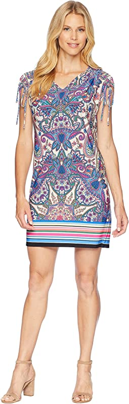 Printed Matte Jersey Dress