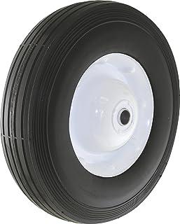 Shepherd Hardware 9597 10-Inch Semi-Pneumatic Rubber Tire, Steel Hub with Ball Bearings, Ribbed Tread