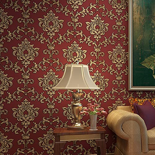 Damask 3D Embossed Wallpaper: Amazon.com