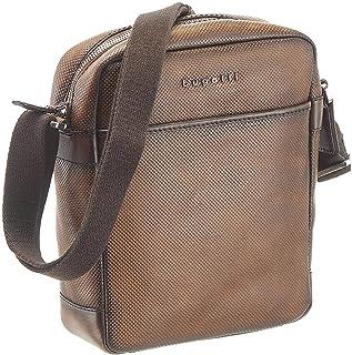 Bugatti Perfo Kleine Umhängetasche für Herren Schultertasche Leder, Messenger Bag Kuriertasche, Braun