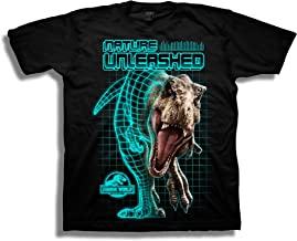 Jurassic World Boys 2 T-rex Nature Unleashed Short Sleeve T-Shirt