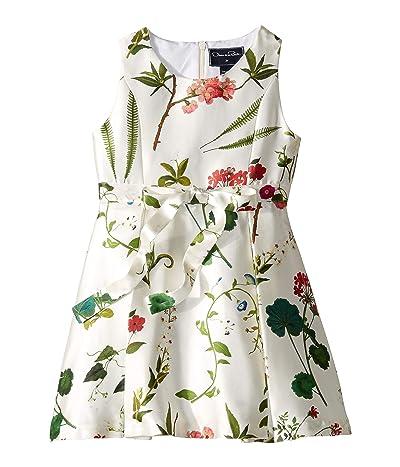 Oscar de la Renta Childrenswear Party Dress (Toddler/Little Kids/Big Kids) (White Multi) Girl