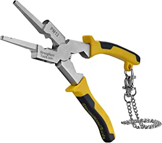 Strong Hand Tools, Deluxe MIG Welding Pliers, 8-Inch, Rounded & Flat Face Hammer,Fine & Coarse Files, Side Pull V-Notch, R...