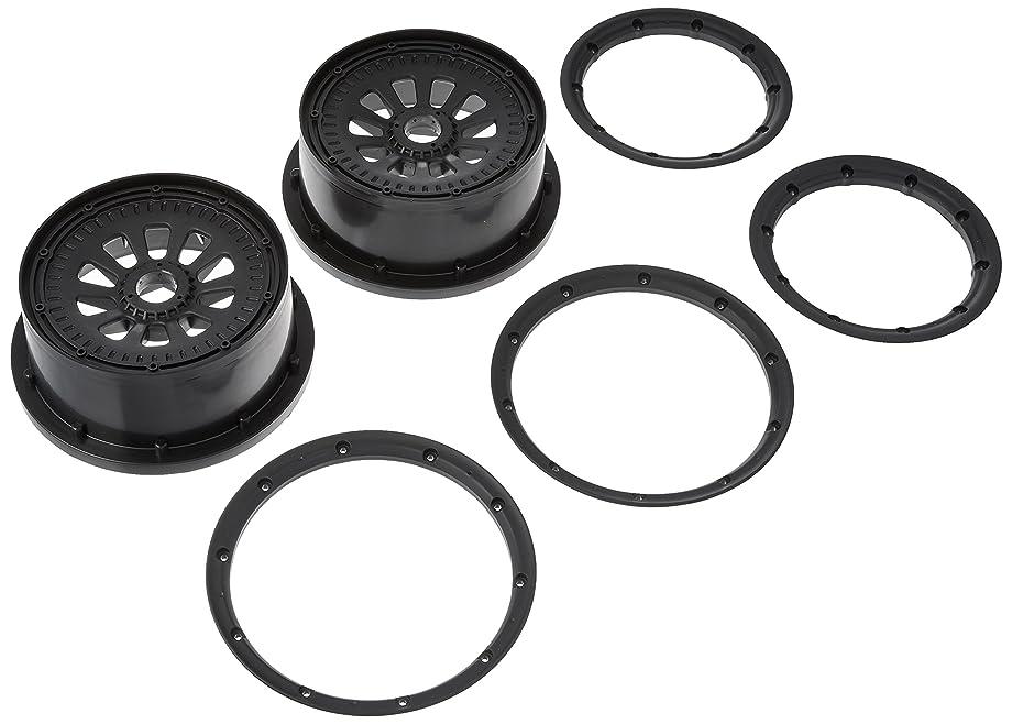 Losi Wheel & Beadlock Set, Black (2), 5T, LOSB7034