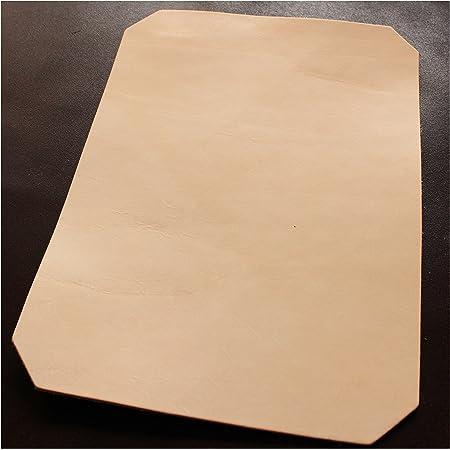Cuir vierge 24 x 33 cm - Cuir de vachette épais - Cuir de vachette en tannage végétal - Cuir de vachette massif - Environ 3,2 à 3,5 mm d'épaisseur et grain intacte.