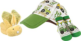Stephan Baby Down on The Farm Sport Cap, Socks and Yellow Boo Bunny Gift Set, 0-6 Months