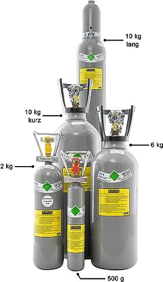 Co2 Flasche Gefüllt Mit Kohlendioxid E290 Lebensmittelgeeignet 0 5 Kg Aquaristik Kohlensäure Baumarkt