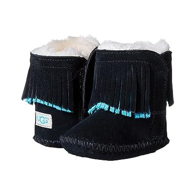 UGG Kids Branyon Fringe (Infant/Toddler) (Black) Girls Shoes