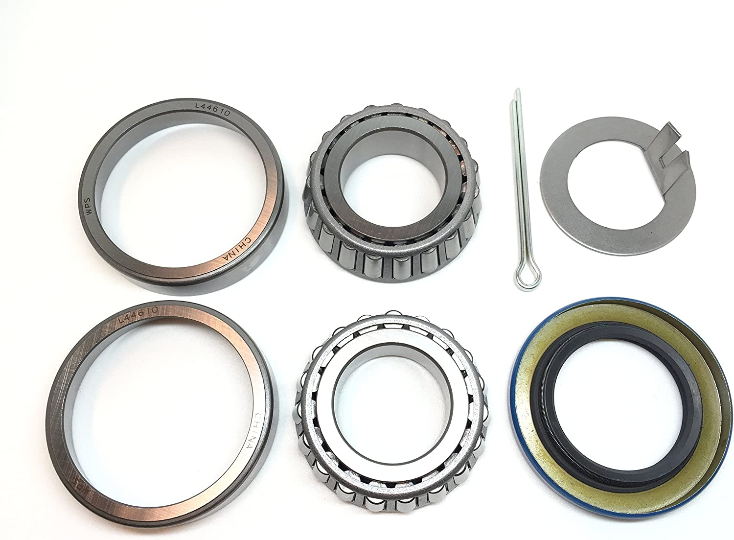 WPS Trailer Axle Hub Wheel Direct stock discount Bearing L44643 Translated Seal L44610 Grease Kit