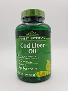 Finest Nutrition Cod Liver Oil 415mg 300 Softgels
