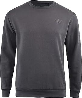 Mens Plain Jumper Crew neck Sweatshirt Casual mens Top