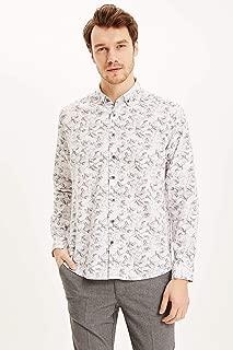 DeFacto Modern Fit Desenli Gömlek