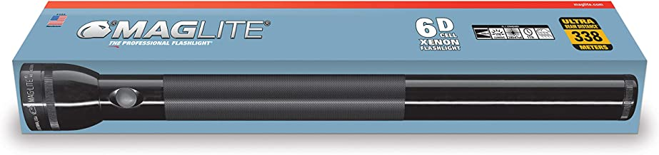 Maglite Heavy-Duty Incandescent 6-Cell D Flashlight in Display Box, Black
