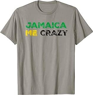 Funny Jamaica Me Crazy Jamaica Flag Shirt for Men Women Kids
