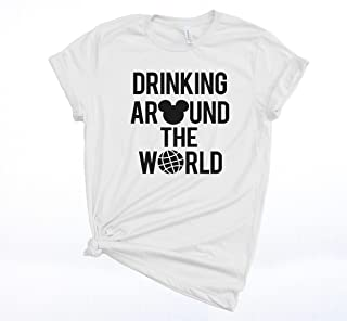 Drinking Around the World T-shirt for Men and Women Unisex, Food and Wine Festival.