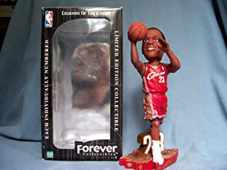 2003 LEBRON JAMES RED JERSEY SHOOTING ROOKIE BOBBLEHEAD CLEVELAND CAVALIERS