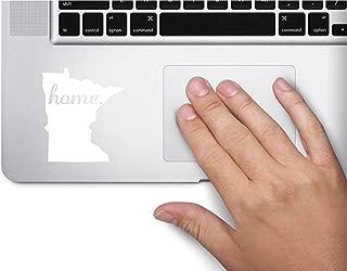 #2 Home Minnesota State Name Keypad Computer Laptop Symbol Decal Family Love Car Truck Sticker Window (White)