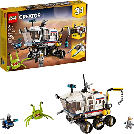 LEGO Creator 3in1 Space Rover Explorer 31107 Building Toy for Kids Who Love Imaginative Play, Space and Exploration Adventures on Exotic Planets, New 2020 (510 Pieces)