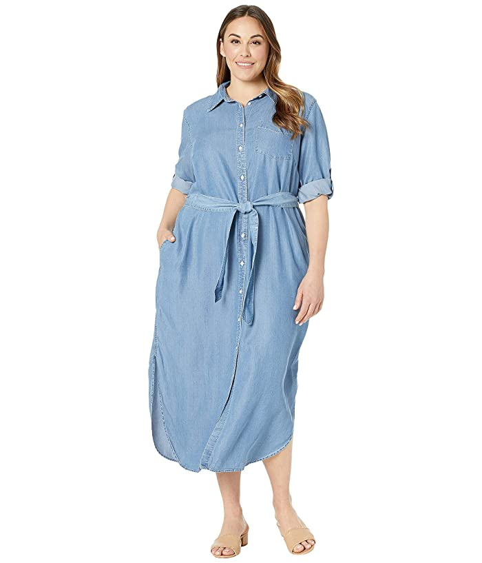 LAUREN Ralph Lauren Plus Size Denim Shirtdress | Zappos.com