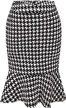 Arctic Cubic Highwaist Ruffled Ruffle Hem Midi Bodycon Fishtail Mermaid Skirt