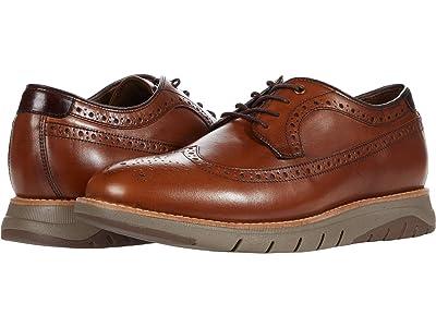 J&M Collection Vaughn Wing Tip (Cognac) Men