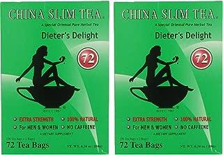 China Slim Dieter's Tea Delight, Large, 72-Count (Pack of 2, 144 tea bags total)