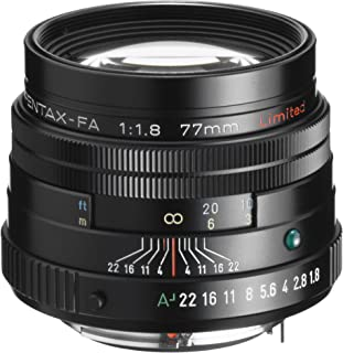 Pentax SMCP-FA 77mm f/1.8 Limited Lens with Case and Hood