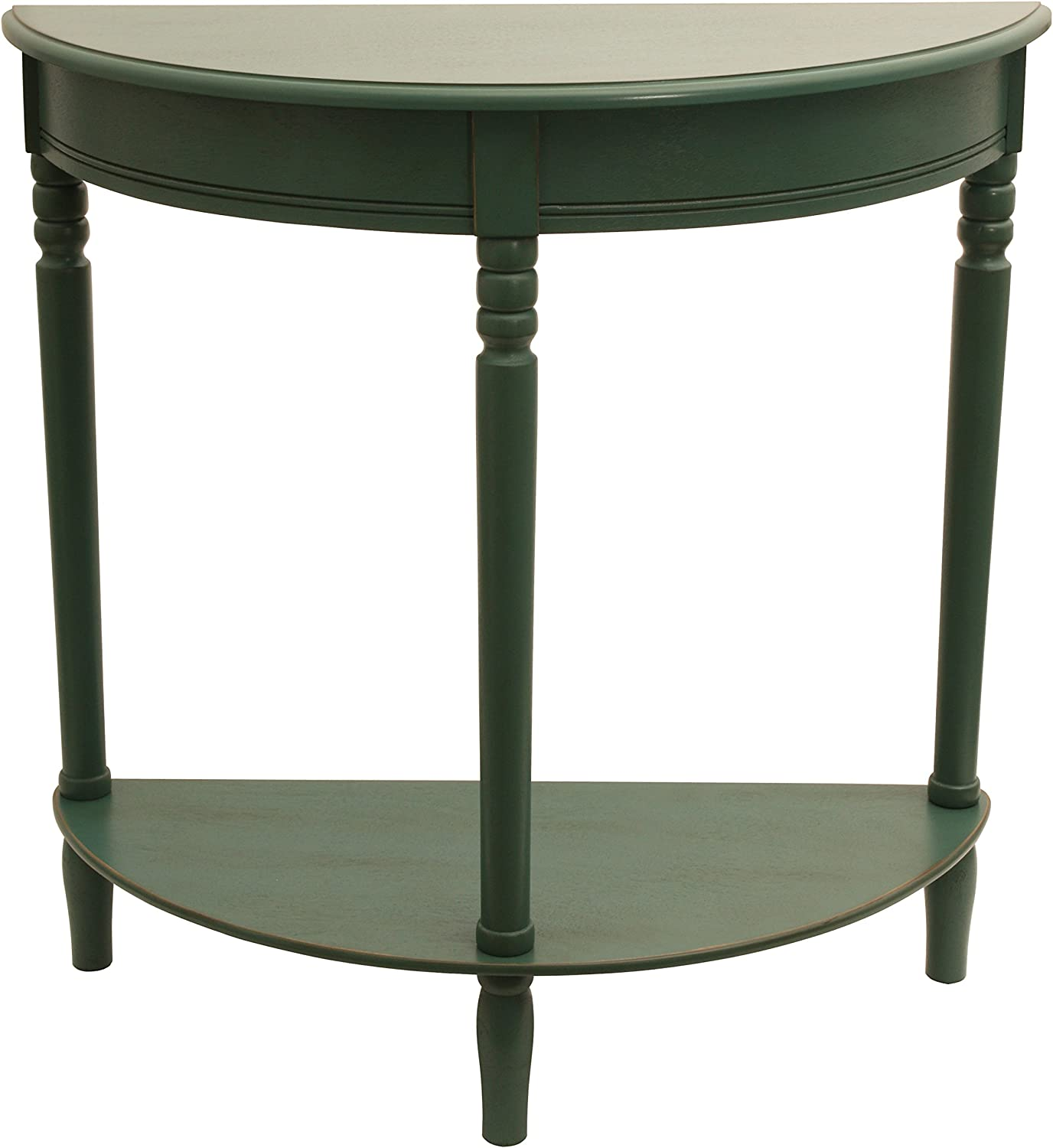 Décor Therapy Antique Teal Half Round Table