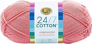 Lion Brand Yarn Company Cotton Yarn, 100 Percent Cotton, Pink