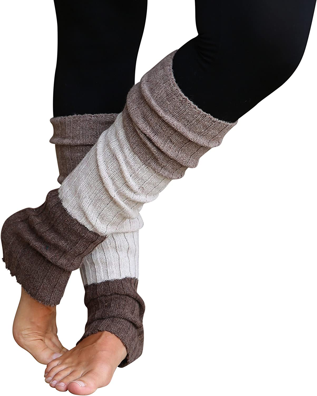 Leg Warmers for Women Striped, Multicolor & Reversible Legwarmers by Lucky Love