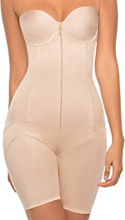 Annette Women's Extra Firm Control Full Body Strapless Mid-Thigh Shapewear 10755BK1