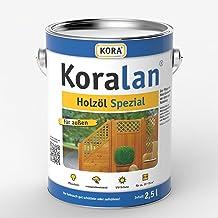 Koralan Holzöl Spezial Öl UV-Schutz Außenöl Natur 2,5L