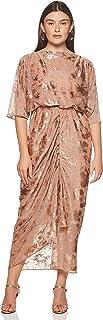 Women's Cowl Kaftan Dress with Inner, Foil Print