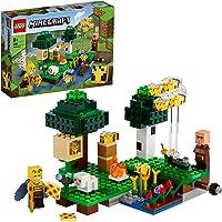 LEGO Minecraft De bijenhouderij 21165 Minecraft bouwspeelgoed boordevol actie met een imker, plus coole figuren van...