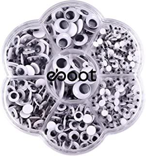 700 Pieces Round Wiggle Googly Eyes with Self-adhesive DIY Scrapbooking Crafts Toy Accessories, Assorted Sizes