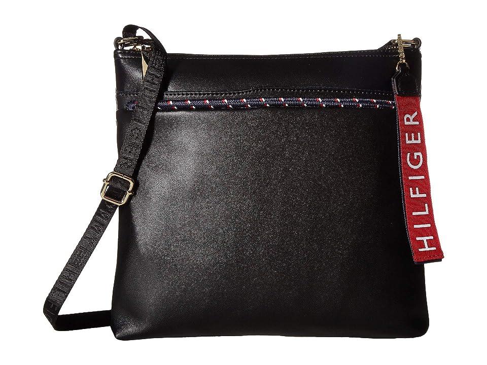 Tommy Hilfiger Devon North/South Crossbody (Black) Cross Body Handbags