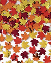 Amscan 370016 Maple Leaves Metallic Foil Confetti, 1 pack