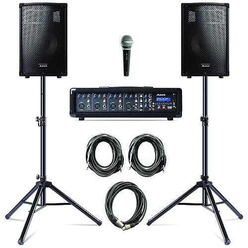 Altoparlante Amplificatore con Mixer Mixer a 3 Canali 2 Bande EQ NW-PSM05R Neewer Altoparlante Stereo Impianto di Diffusione Sonora con Piccolo Display /& Telecomando