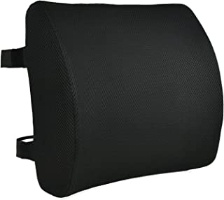 Memory Foam Back Cushion by CompuClever-Lumbar Support Pillow with Dual Adjustable Straps-Lower Back Support Cushion for Home Office Chair Car Seat Ergonomic Design with Removable Cover