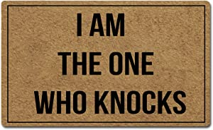 FZYTMY Funny Doormat I Am The One Who Knocks Indoor Outdoor Entrance Floor Mat Home Front Door Mat Non Slip Backing 23.6 X 15.7 Inch